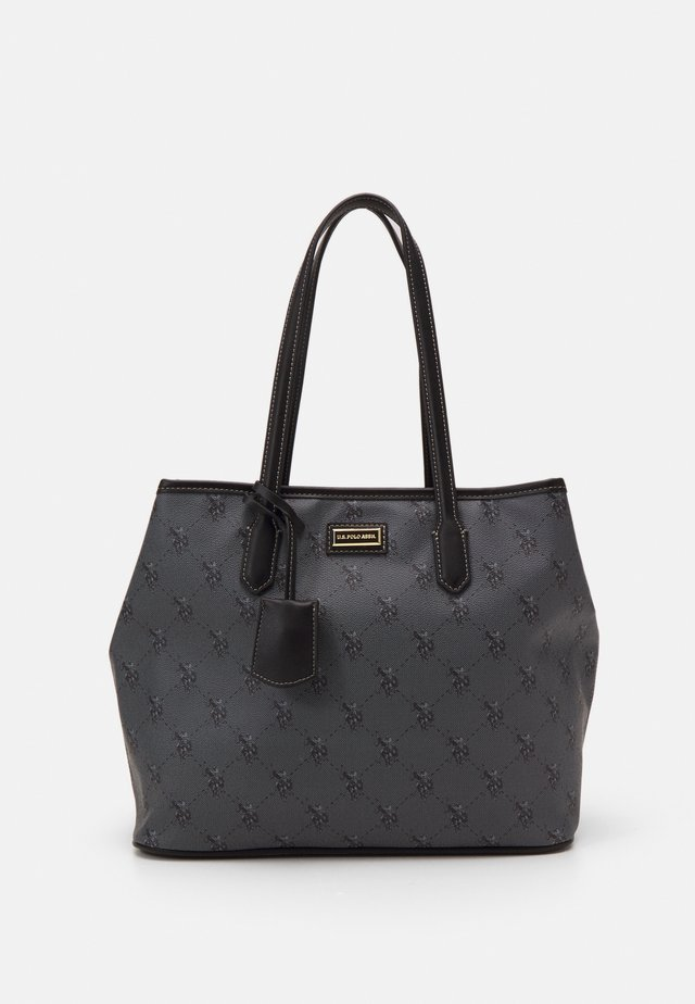 HAMPTON SHOPPING BAG PRINTED - Shoppingveske - black
