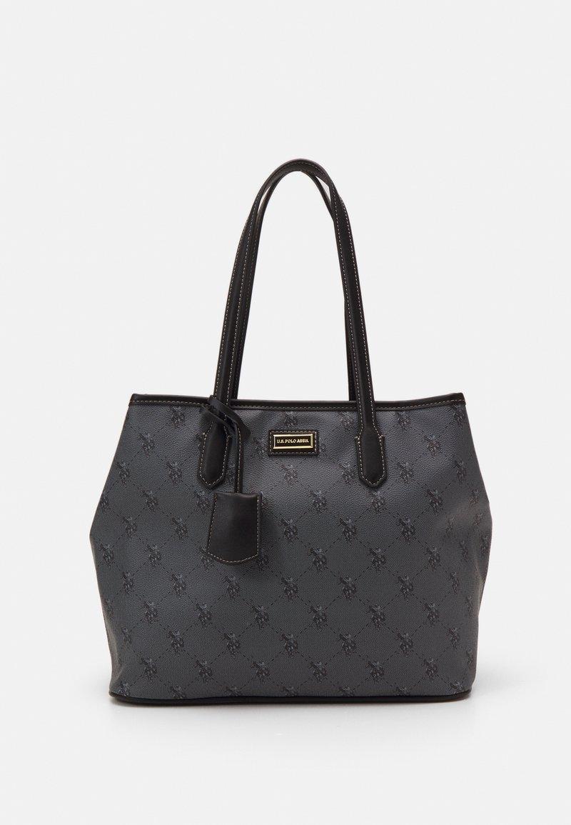U.S. Polo Assn. - HAMPTON SHOPPING BAG PRINTED - Tote bag - black