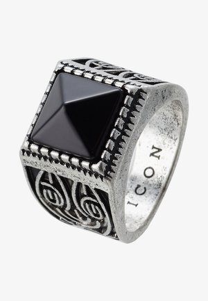 ELABORATE SQUARE SIGNET - Ring - silver