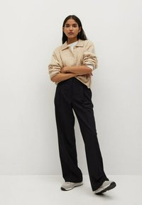 Mango - POCKET - Trousers - zwart - 1