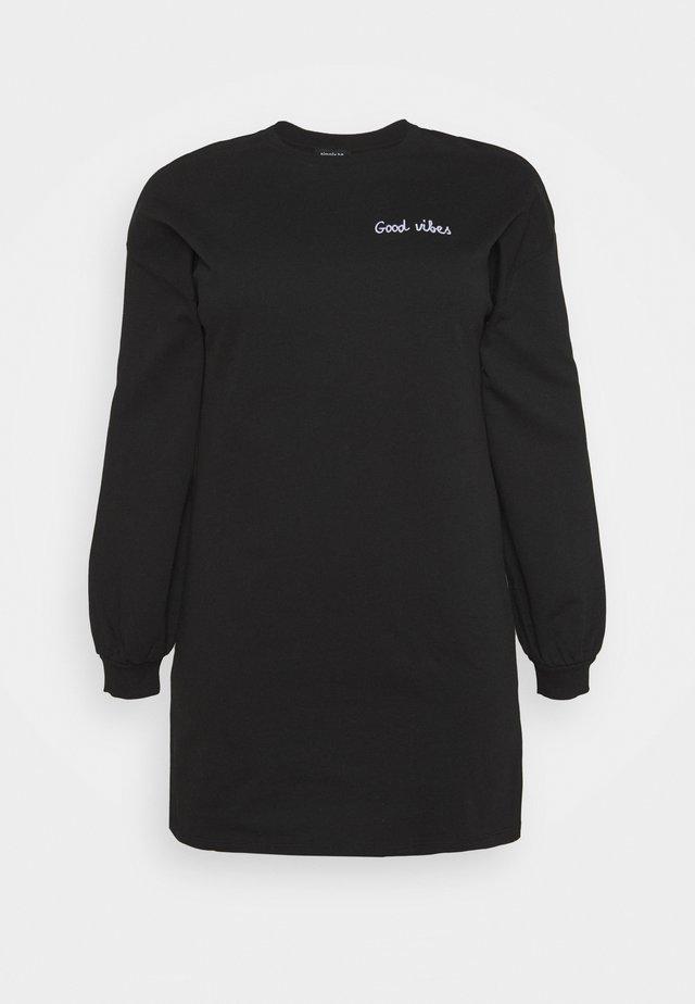 BALLOON SLEEVE - Korte jurk - black