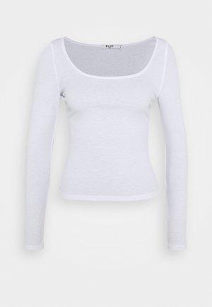 DEEP ROUND NECK  - Bluzka z długim rękawem - off white