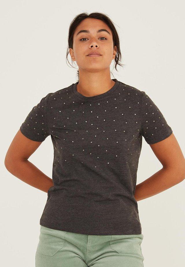 GEM DETAIL - Camiseta estampada - grey