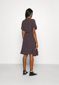 Colourful Rebel - TELSI HEARTS WRAP DRESS - Day dress - black - 2