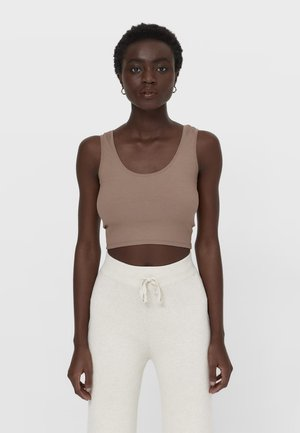 CROPPED - Top - beige