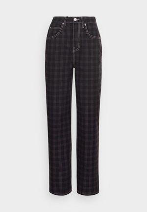 CHECK MODERN BOYFRIEND  - Jeans straight leg - washed black