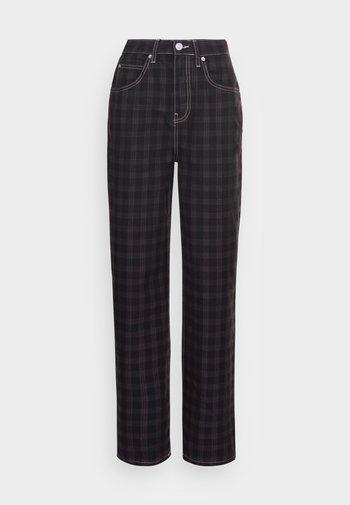 CHECK MODERN BOYFRIEND  - Jeans a sigaretta - washed black