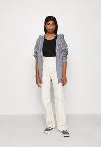 BDG Urban Outfitters - ZIP THROUGH HOODIE - Huvtröja med dragkedja - pacific blue - 1