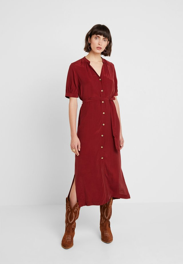 DANA DRESS - Vestido largo - burgundy