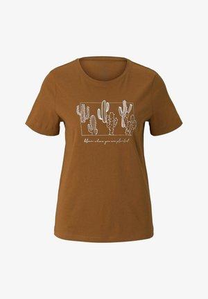 T-shirt z nadrukiem - caramel brown