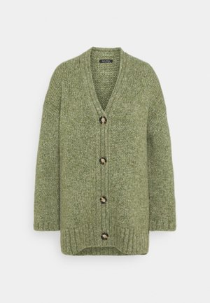 CARDIGAN LONGSLEEVE V-NECK - Kardigan - dried sage