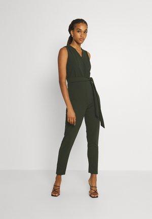 EVIE WRAP AROUND - Jumpsuit - khaki green