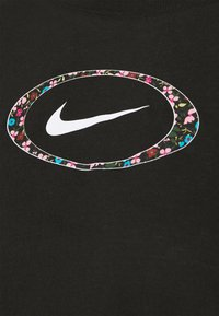 Nike Performance - DRY CROP FEMME - T-shirts med print - black/pink/white - 2