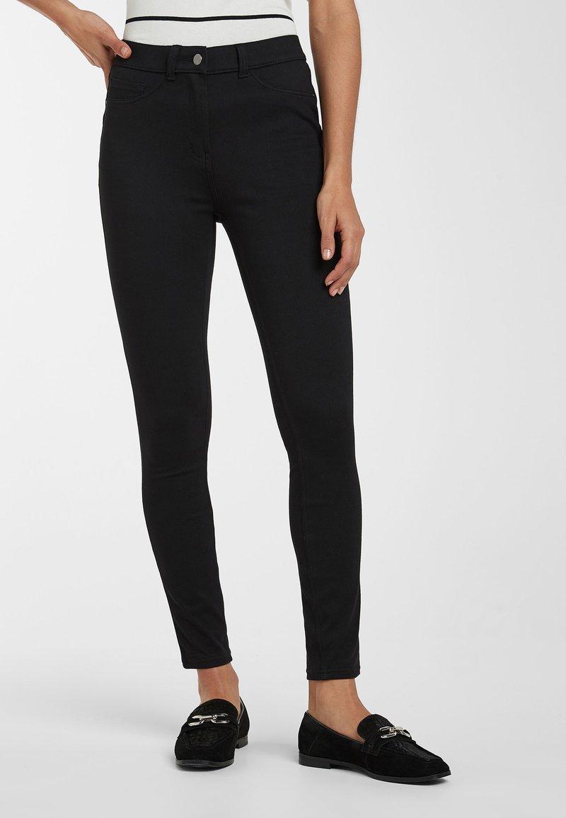 Next - BLACK FLY FASTEN JERSEY DENIM LEGGINGS - Jeans Skinny Fit - black