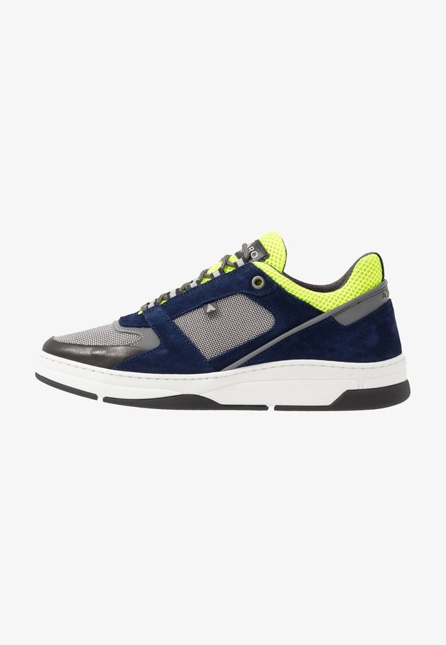 JOGG - Sneakers laag - marine/gris/jaune