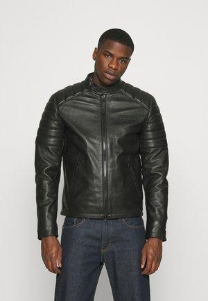 BIKEQUILT - Leather jacket - black