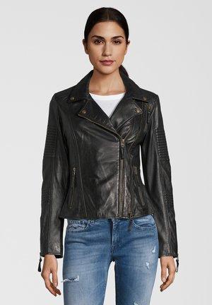LEDERJACKE MUFFIN - Leren jas - black