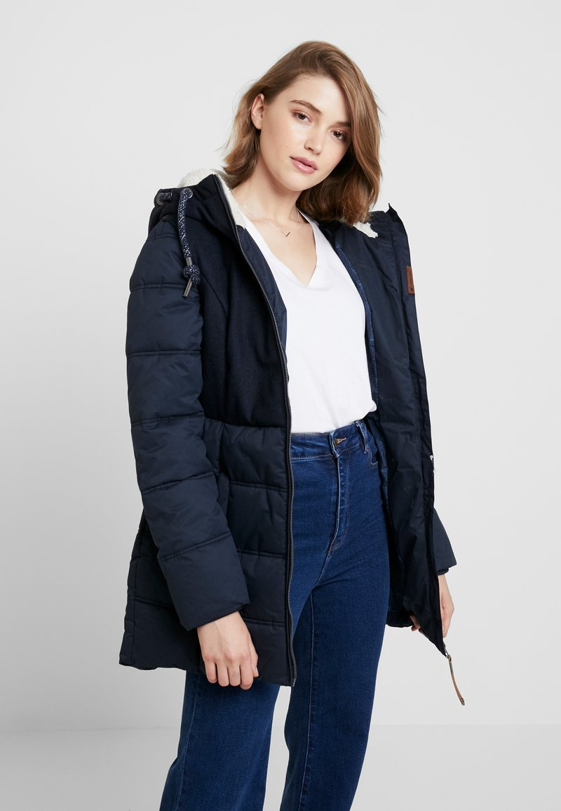 Ragwear - ASHANI PUFFY BLOCK - Parka - navy