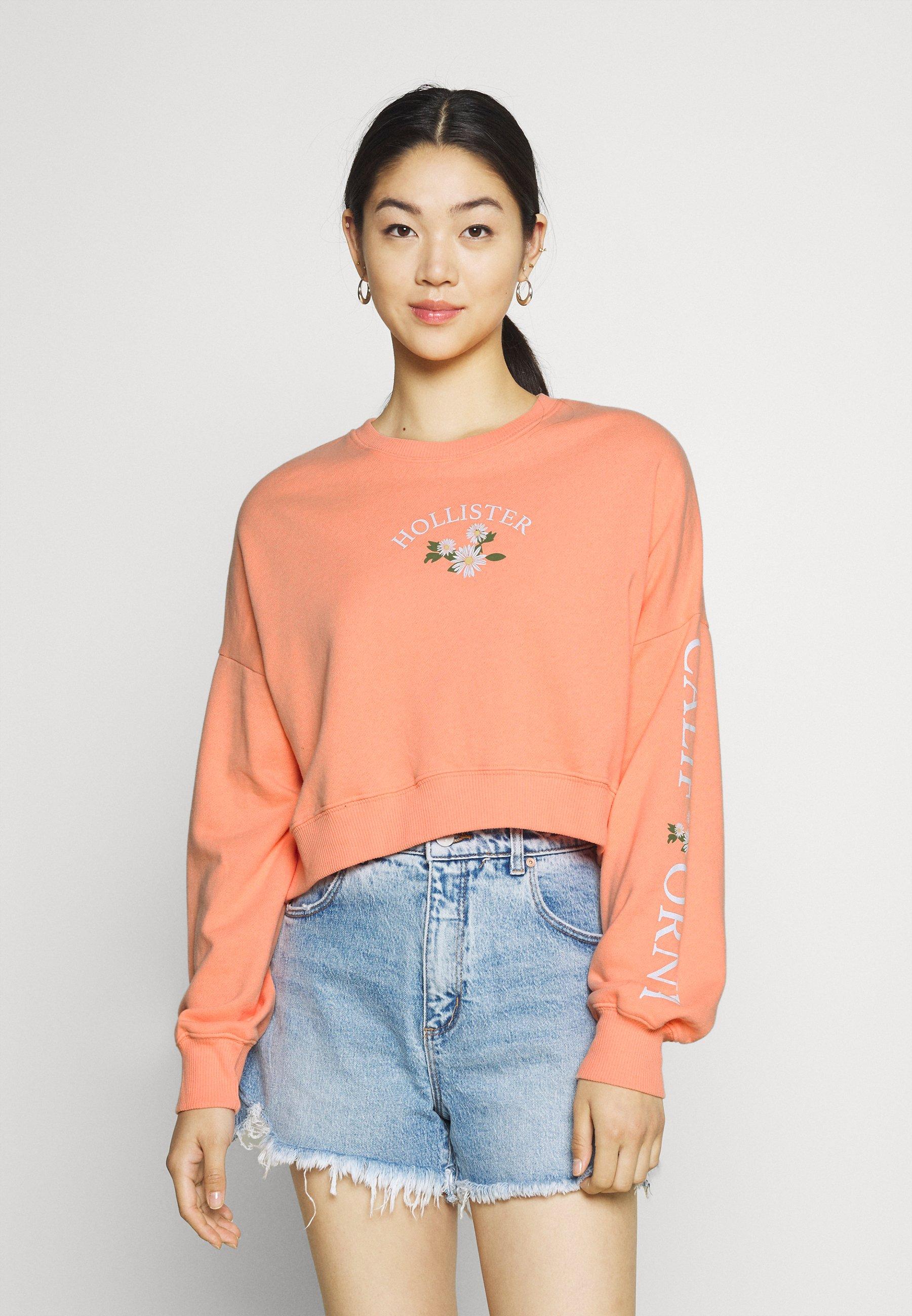 Women PRINT FASHION LOGO CREW - Sweatshirt