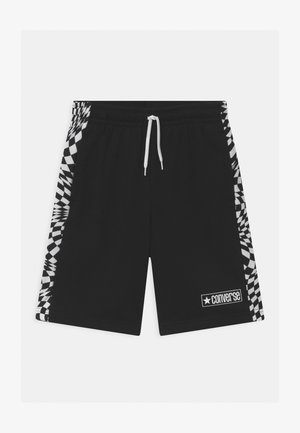 CHECKER BLOCKED UNISEX - Shorts - black