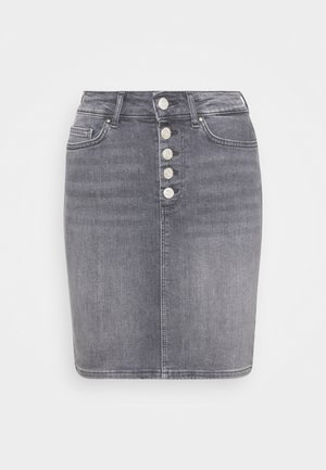 ONLBLUSH - Denim skirt - medium grey denim