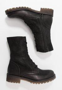 Felmini - CASTER - Lace-up ankle boots - morat black - 3
