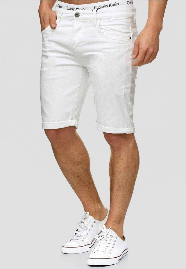 CUBA CADEN - Shorts di jeans - offwhite