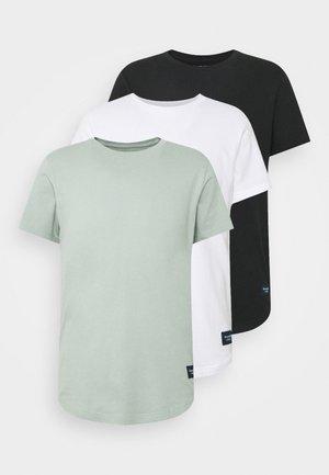 CURVED HEM 3 PACK  - T-shirt med print - black/slate/white
