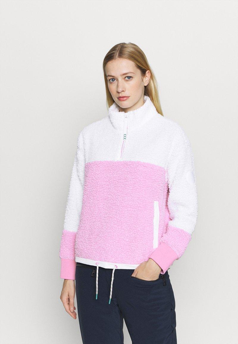 Burton - LAROSA  ZIP - Fleecepullover - white