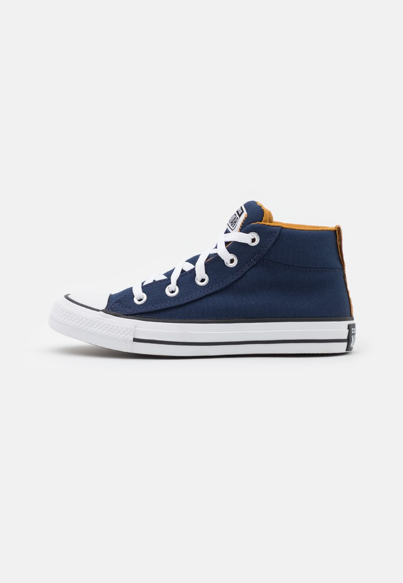 Converse - CHUCK TAYLOR ALL STAR STREET MID UNISEX - High-top trainers - midnight navy/ dark soba/white