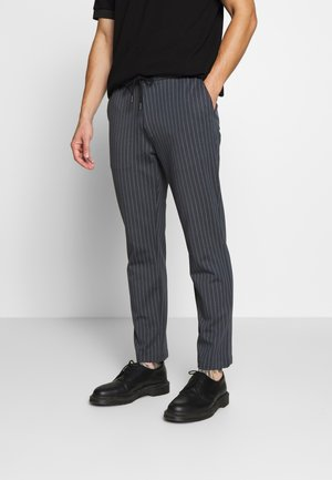 STRIPE WHYATT - Trousers - charcoal