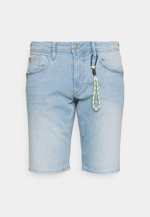 REGULAR FIT - Jeansshort - heavy bleached blue denim
