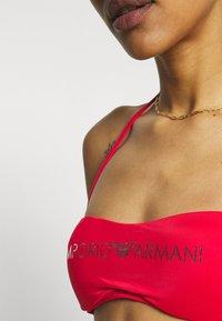 Emporio Armani - CUPS BAND & BRAZILIAN BOWS - Bikini - red - 4