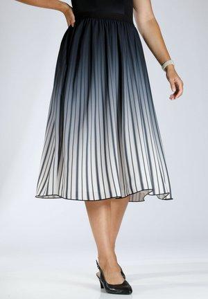 Pleated skirt - ecru schwarz