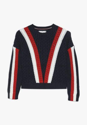 COLOR BLOCK  - Jumper - dark blue