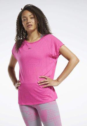 BURNOUT T-SHIRT - Print T-shirt - pink