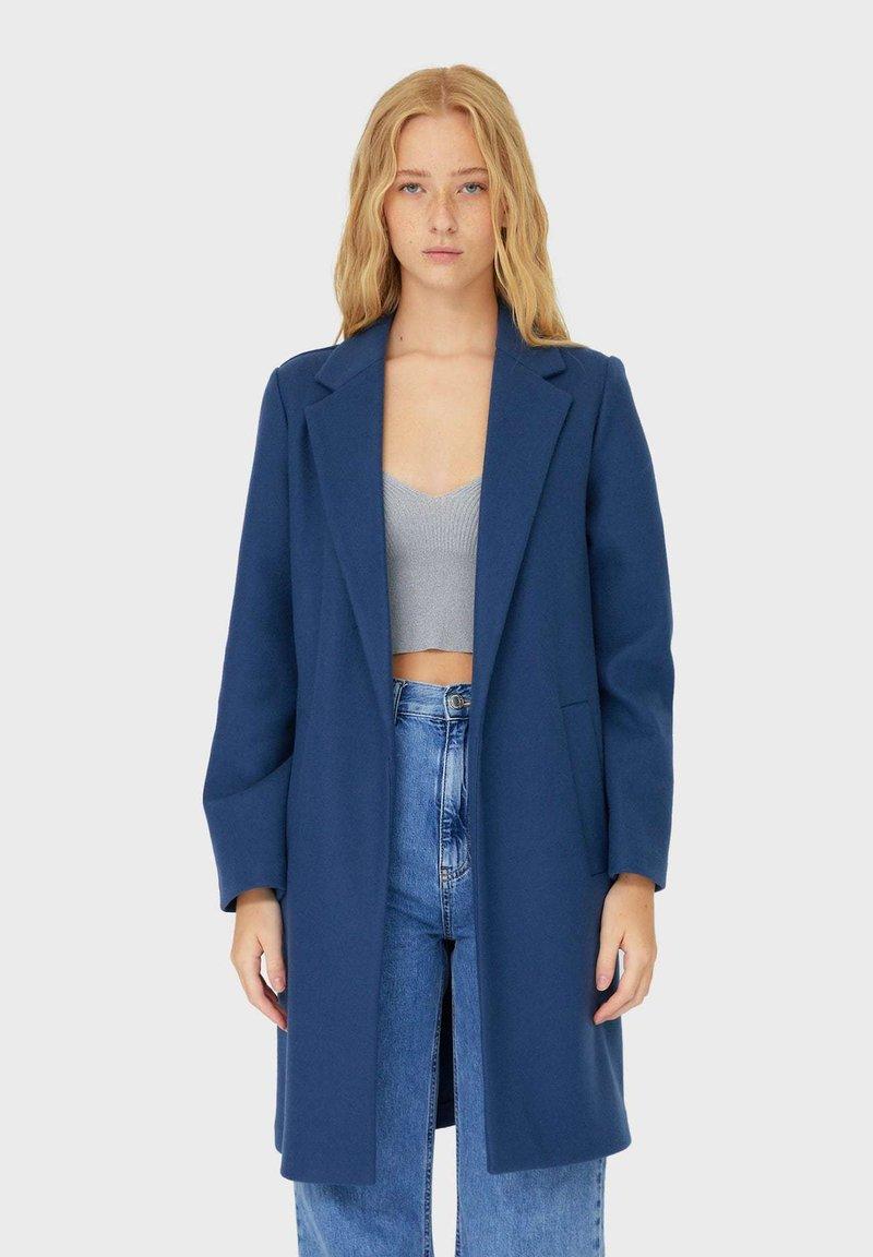 Stradivarius - Short coat - dark blue