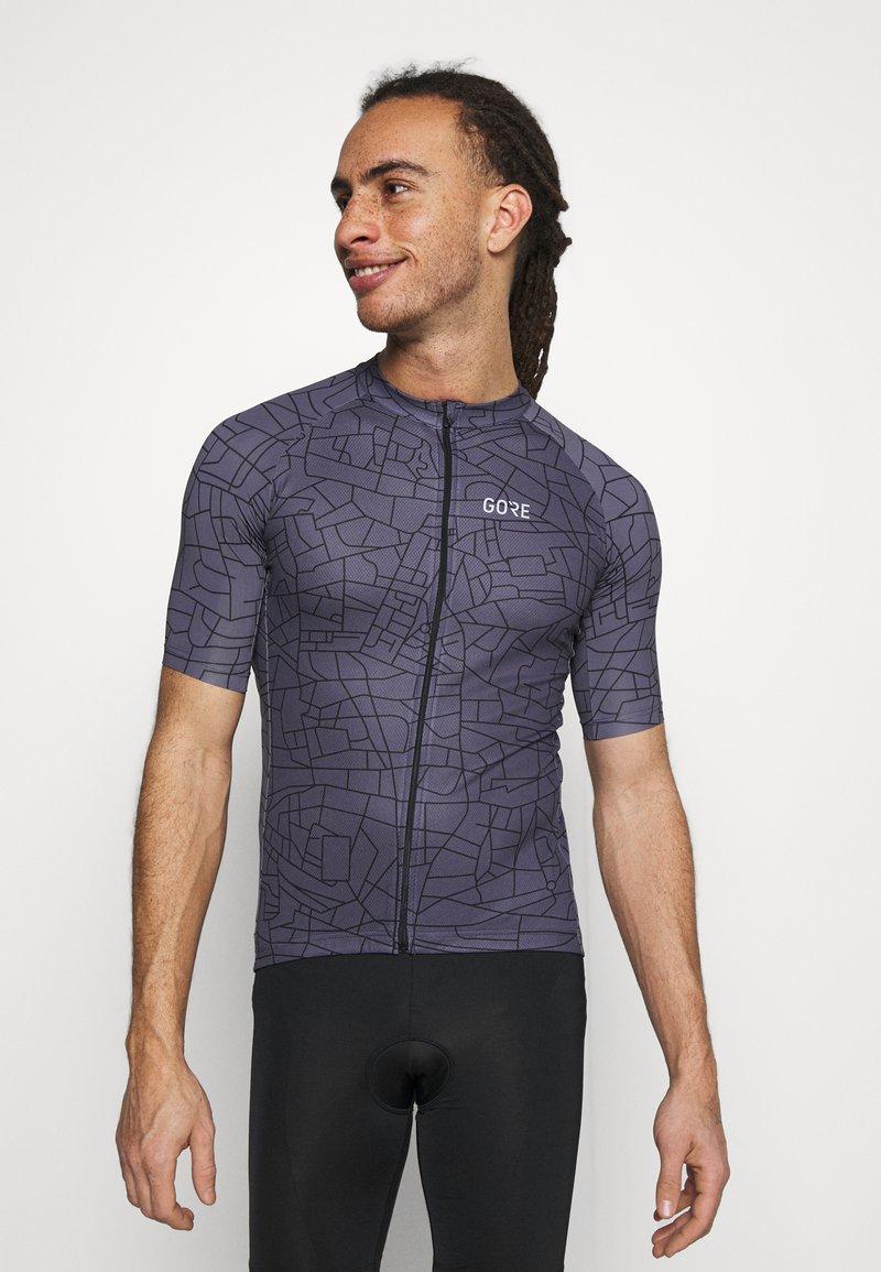 Gore Wear - GOTHAM MENS - T-Shirt print - graystone/black