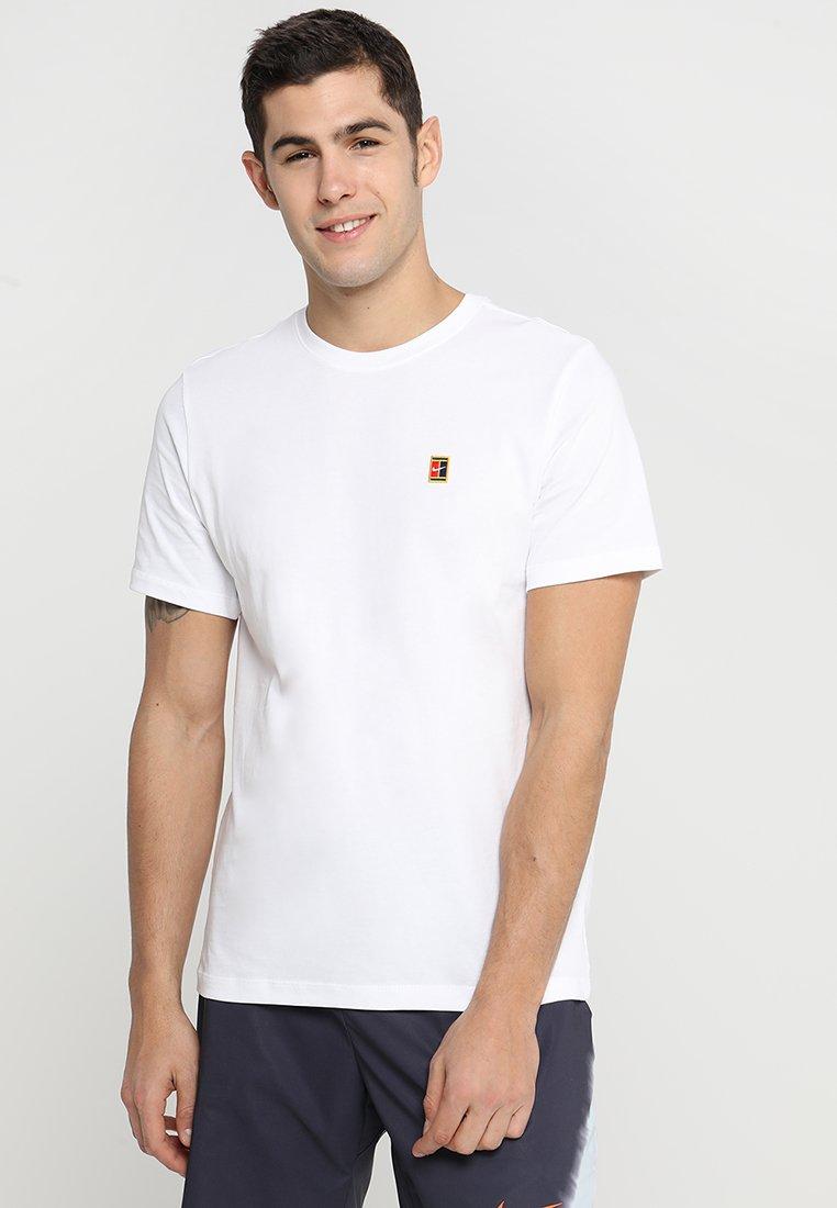 Nike Performance - COURT TEE - T-shirt - bas - white