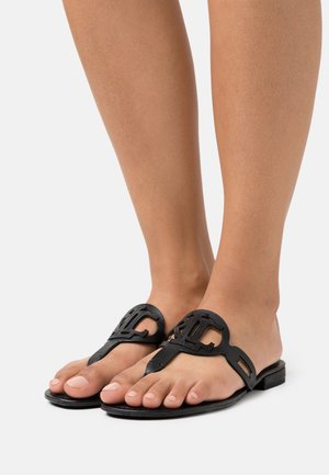 AUDRIE - T-bar sandals - black