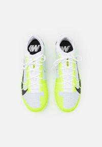 Nike Performance - MERCURIAL ZOOM VAPOR 14 PRO TF - Astro turf trainers - white/black/metallic silver/volt - 3
