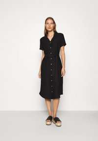 Mavi - SHORT SLEEVE DRESS - Shirt dress - black - 1