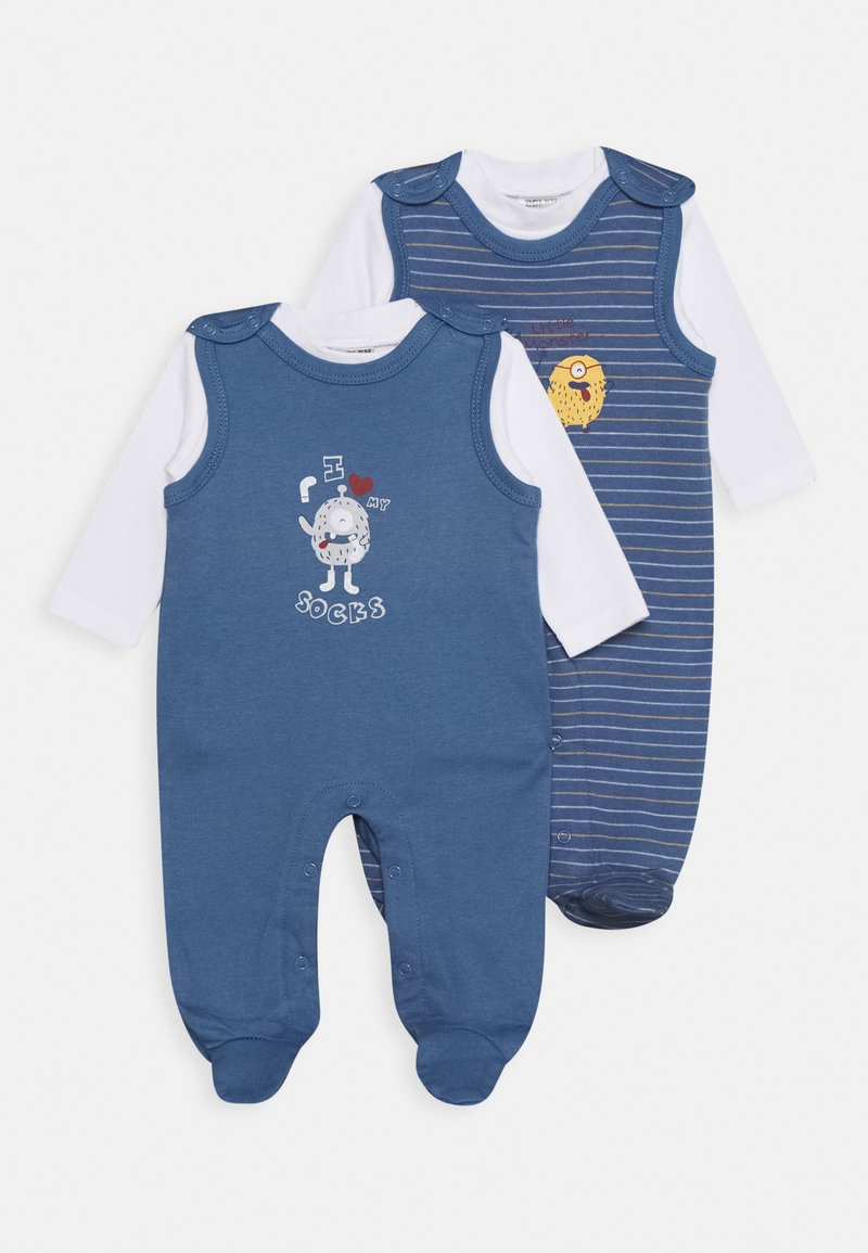 Jacky Baby - STRAMPLER SET 2 PACK - Pyjamas - blue