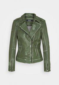 Ibana - FREYA - Leather jacket - dark green - 0