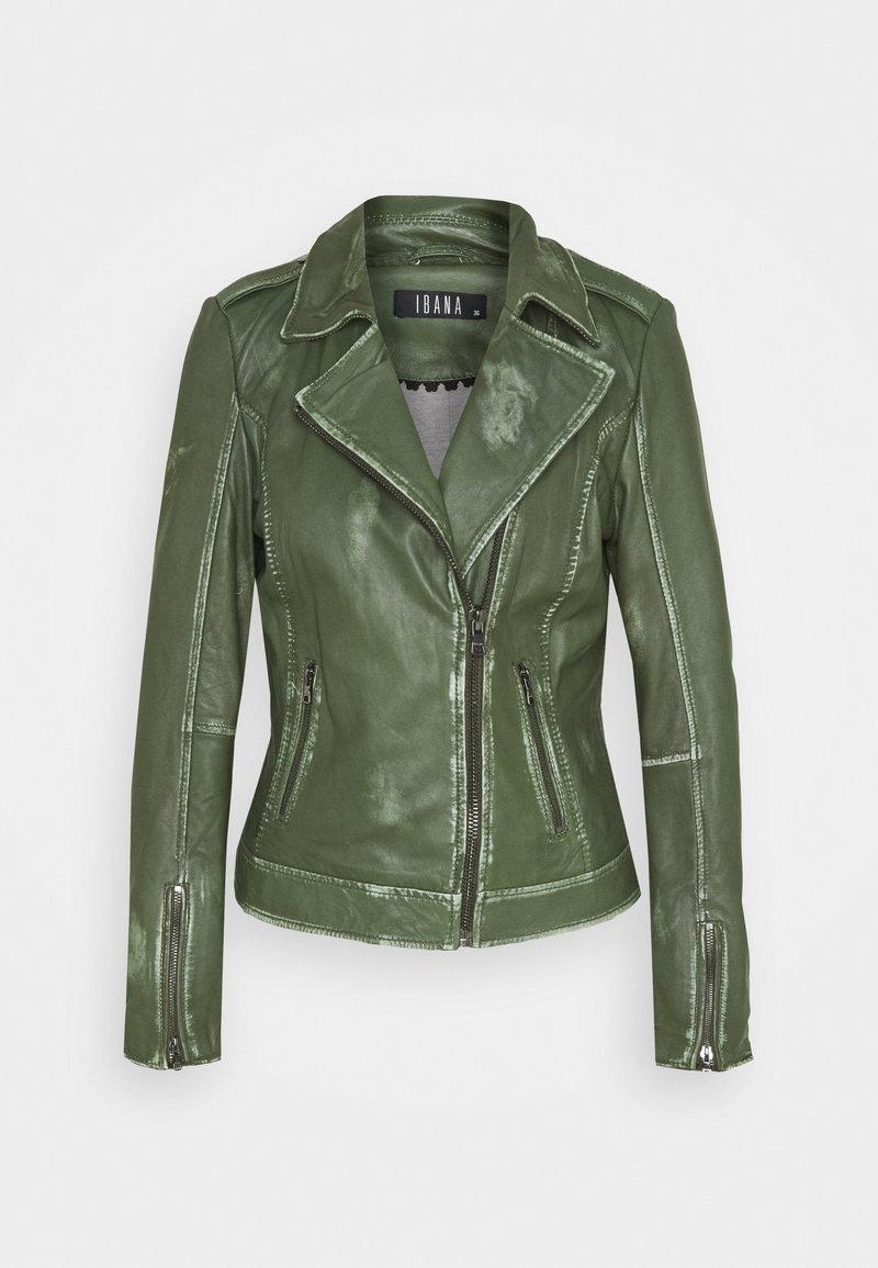 Ibana - FREYA - Leather jacket - dark green