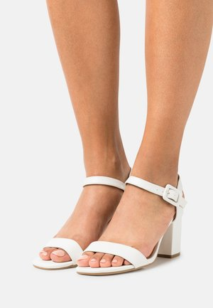 WIDE FIT TEESHA - Sandals - white