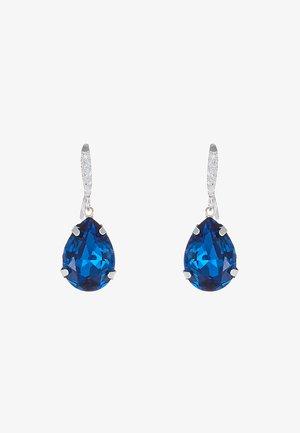 BIRGIT STONE PENDANT EAR - Øreringe - silver-coloured/blue