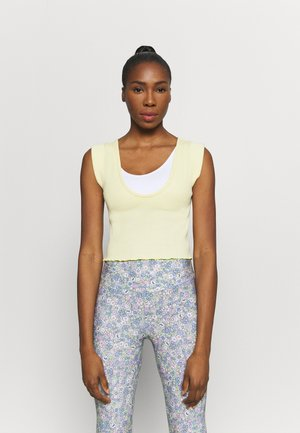 PERFECT DAY TANK - Camiseta estampada - light yellow