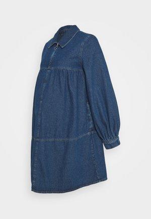BABY DOLL DRESS - Denim dress - mid blue