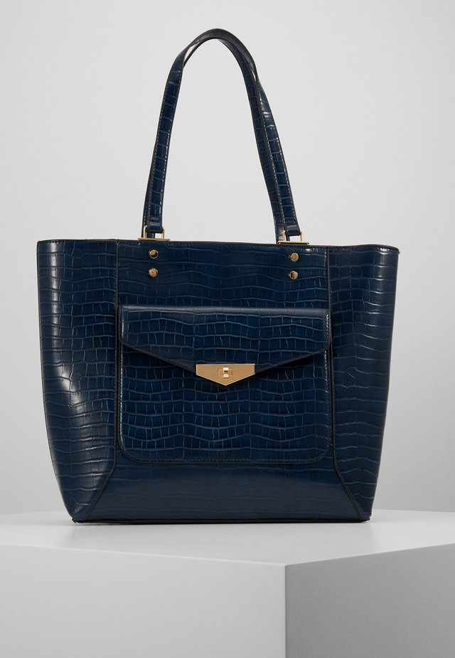 TABATHA CROC TOTE - Shopper - navy